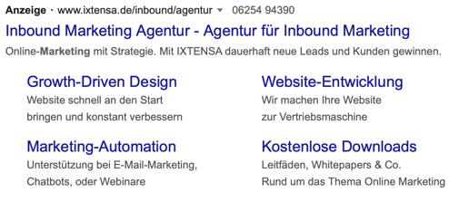 Beispiel einer Google Ads Anzeige.