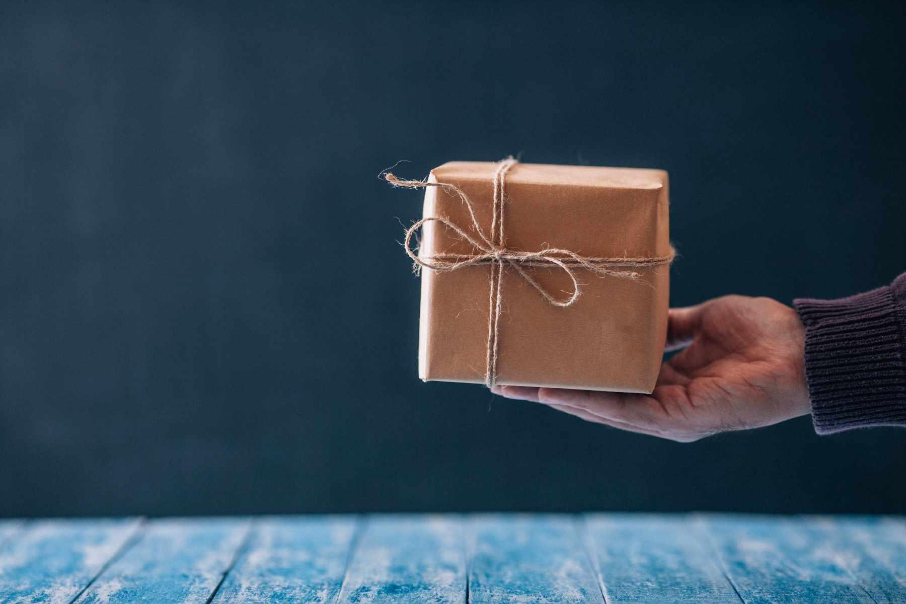 hand-hält-lead-magnet-geschenk