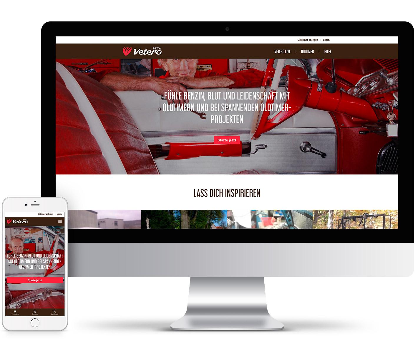 Webentwicklung für Vetero.de